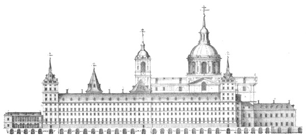 Drawing of El Escorial
