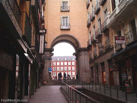 Entrance gate to the Plaza Mayor