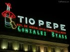 Tio Pepe Sign at Night