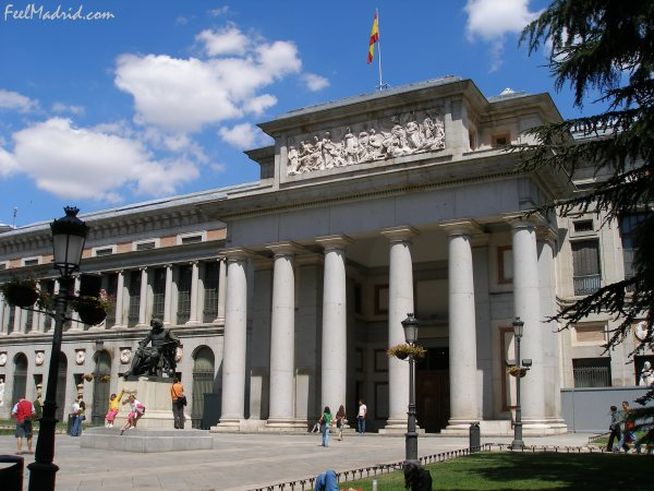 Main façade of the Prado Museum