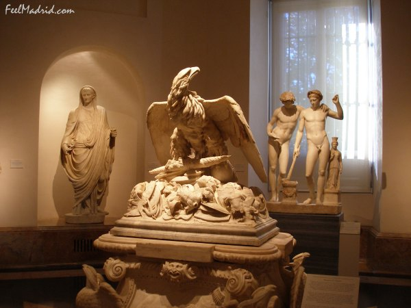 Roman sculptures at the Prado Museum