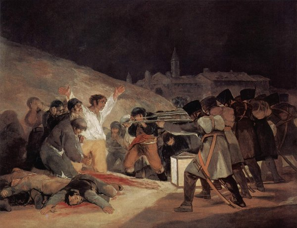The Executions of Pr�ncipe P�o Hill by Goya